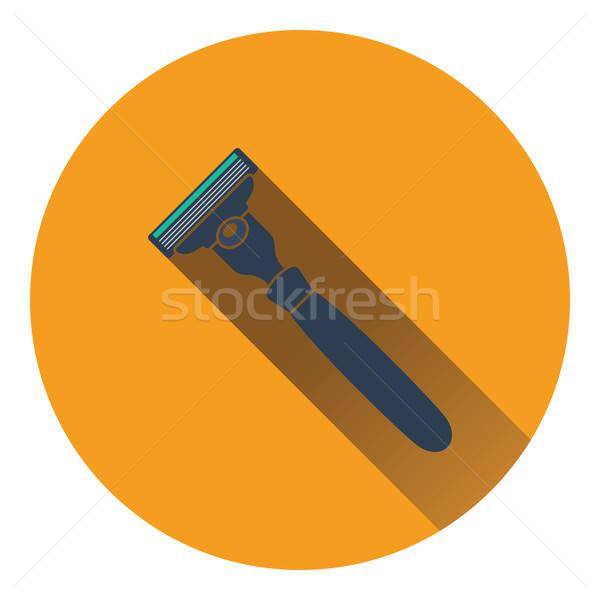 Stock fotó: Biztonság · borotva · ikon · szín · terv · haj