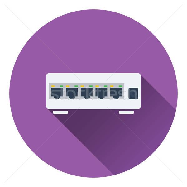 Ethernet wechseln Symbol Farbe Design Business Stock foto © angelp