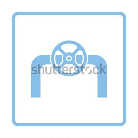 ícone tubo válvula botão projeto Foto stock © angelp
