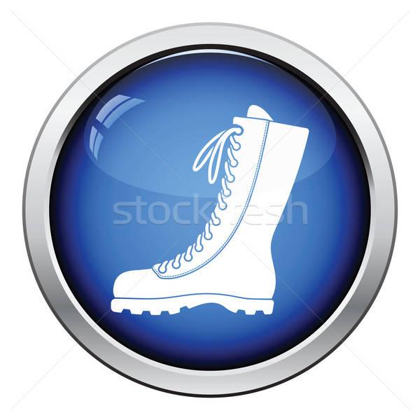 Hiking boot icon Stock photo © angelp