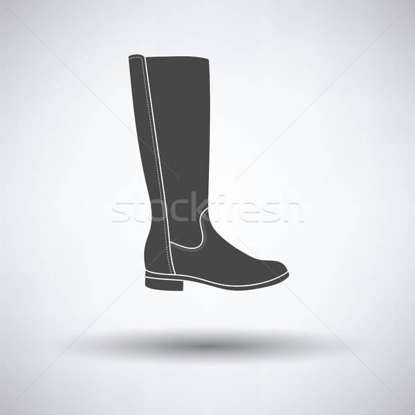 Stock photo: Autumn woman boot icon