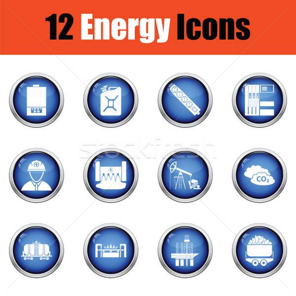 エネルギー ボタン デザイン 技術 ストックフォト © angelp