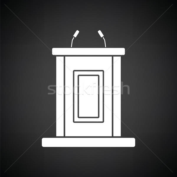 Witness stand icon Stock photo © angelp