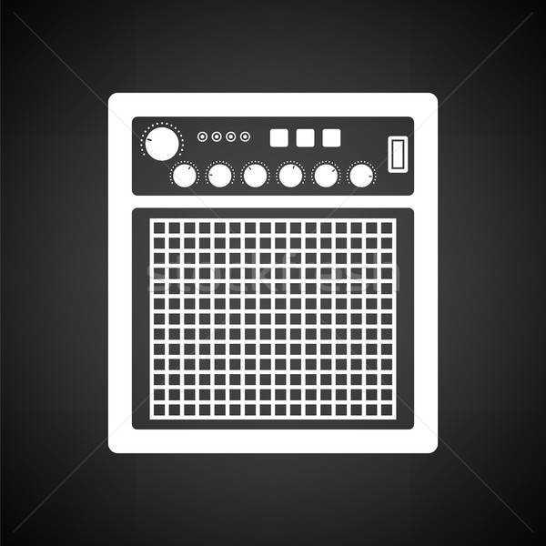 Audio suivre icône blanc noir fête technologie Photo stock © angelp