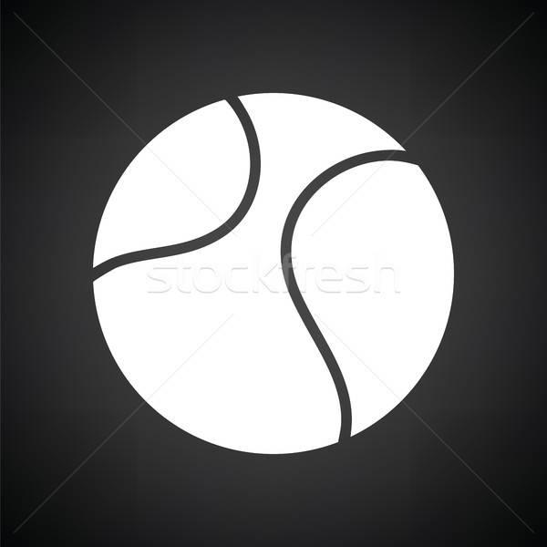 теннисный мяч икона черно белые текстуры спорт фитнес Сток-фото © angelp