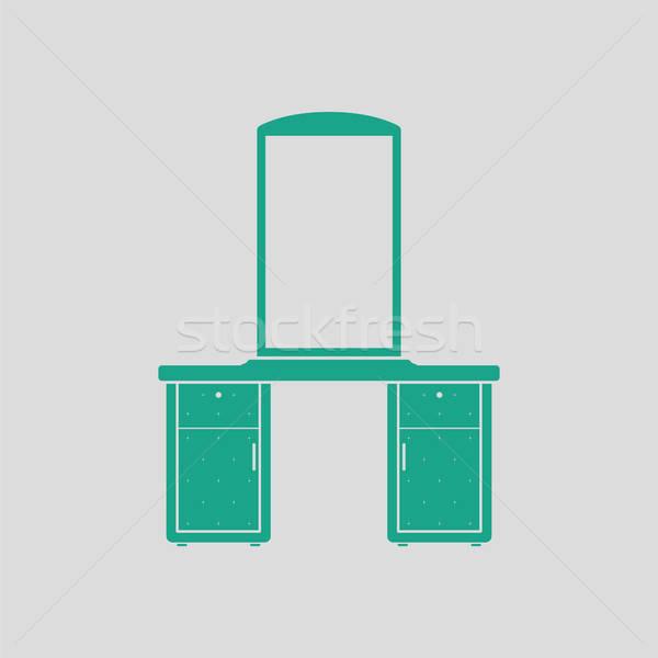 Dresser with mirror icon Stock photo © angelp
