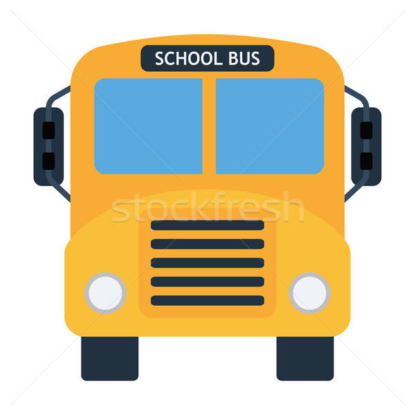Okul otobüsü ikon renk dizayn araba öğrenci Stok fotoğraf © angelp