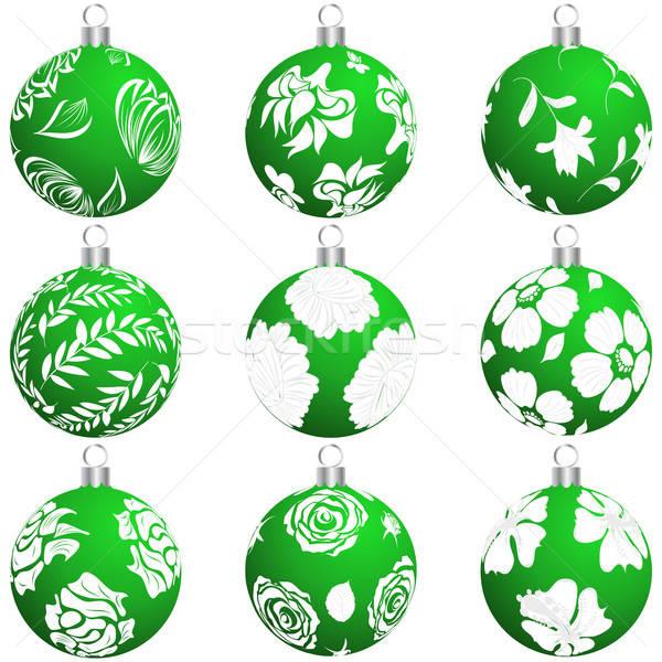 ストックフォト: クリスマス · ボール · セット · デザイン