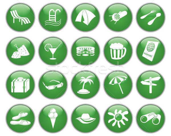 Viaje establecer diferente vector iconos de la web Foto stock © angelp