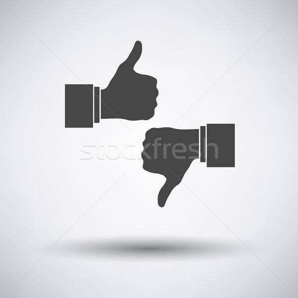 Come antipatia icona grigio ufficio web Foto d'archivio © angelp