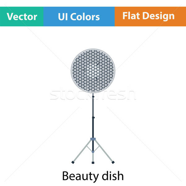 Icon of beauty dish flash Stock photo © angelp