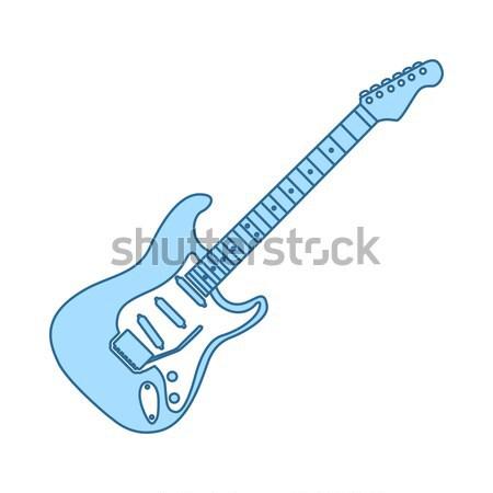 Guitarra elétrica ícone cor projeto música guitarra Foto stock © angelp