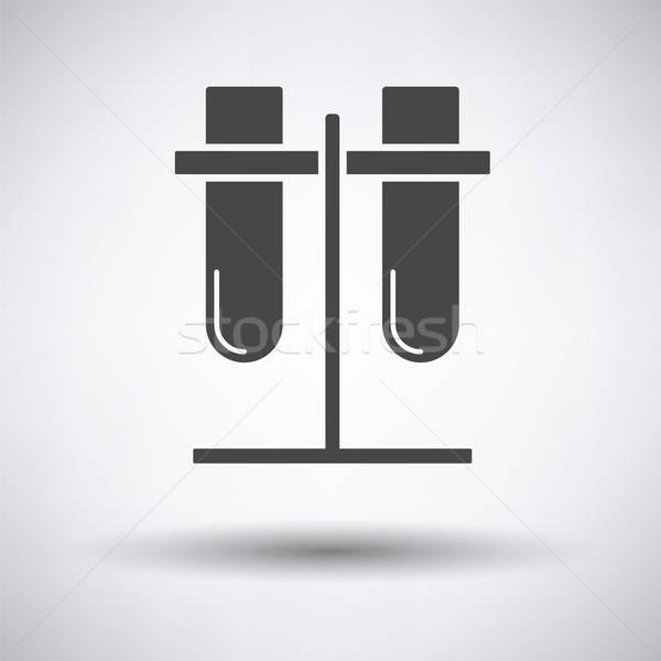 Lab allegata stand icona grigio design Foto d'archivio © angelp