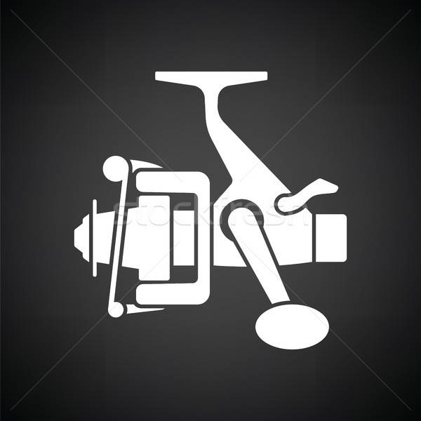 Icon of Fishing reel  Stock photo © angelp