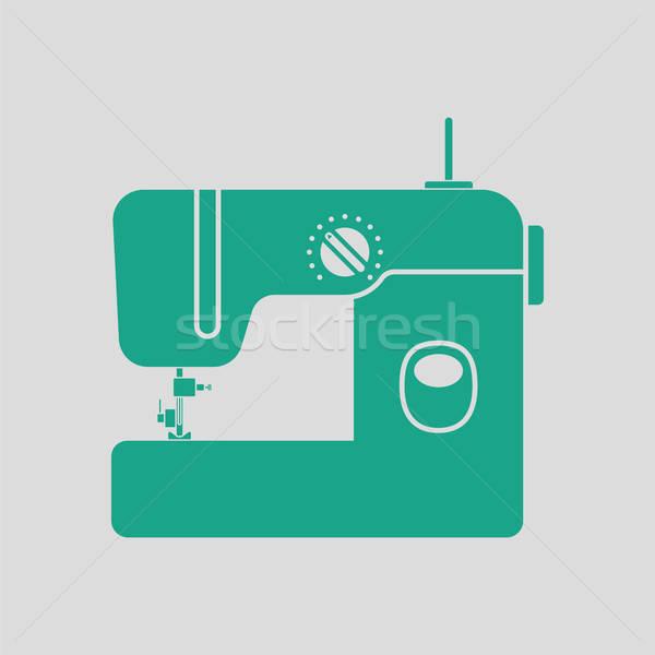 современных швейные машины икона серый зеленый моде Сток-фото © angelp