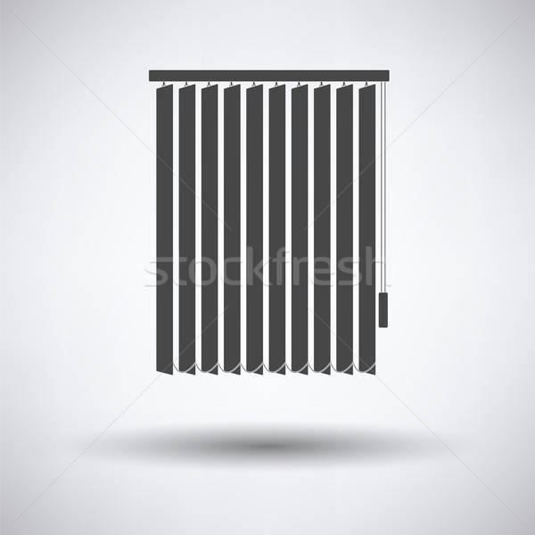 Stock photo: Office vertical blinds icon