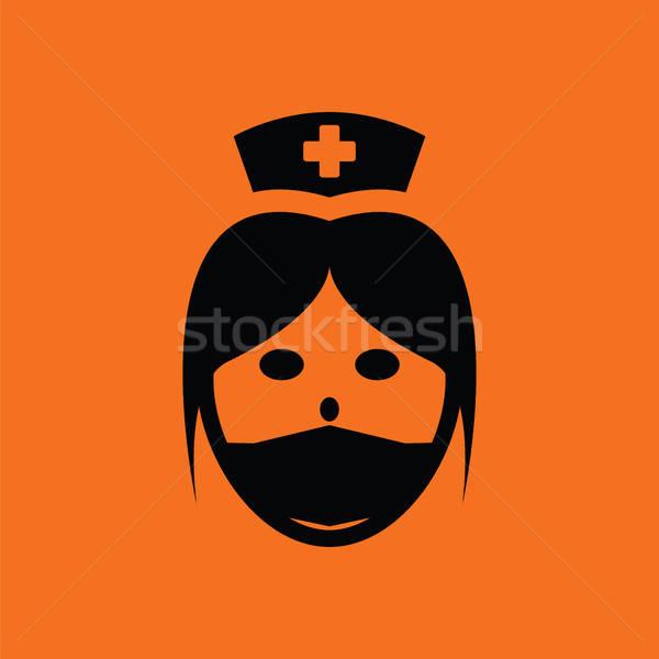 Nurse head icon Stock photo © angelp