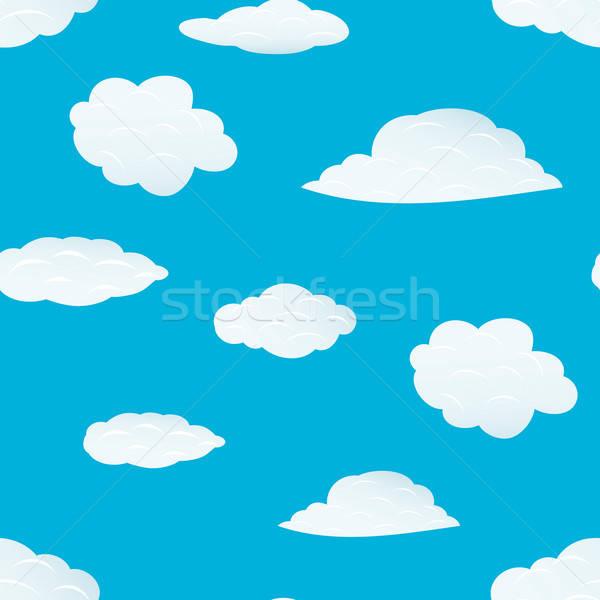 seamless clouds pattern Stock photo © angelp