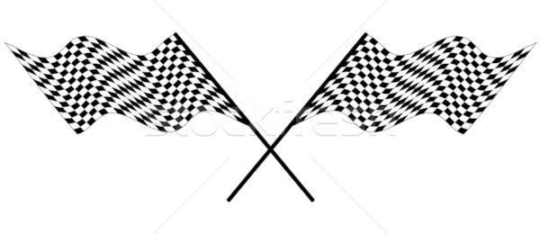 racing flag Stock photo © angelp