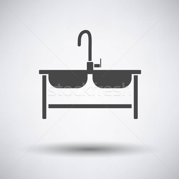 Double sink icon  Stock photo © angelp