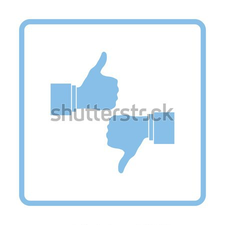 Icon of Like and dislike Stock photo © angelp