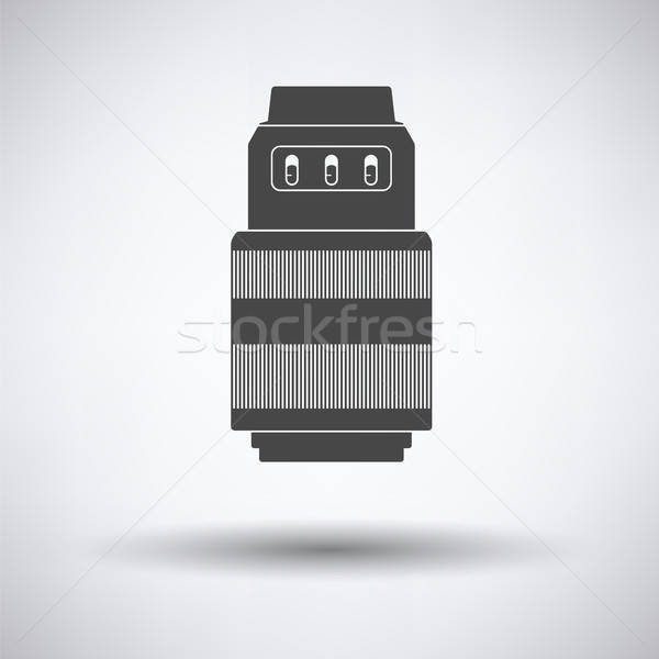 Icon of photo camera zoom lens Stock photo © angelp