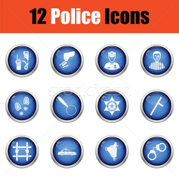 Set of police icons.  Stock photo © angelp