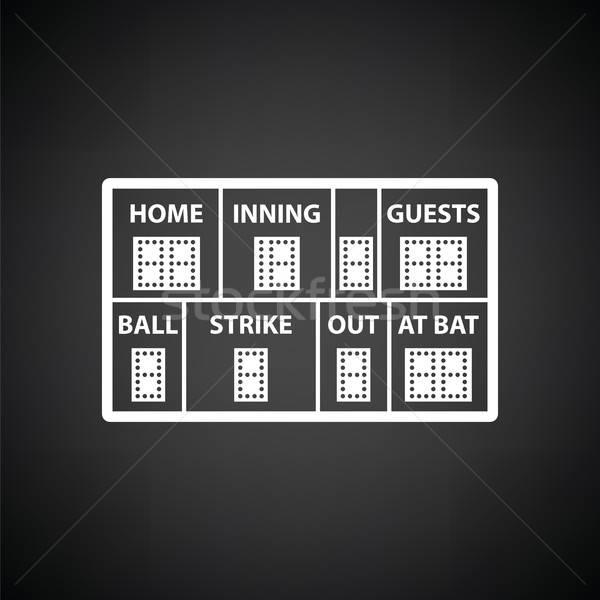 Baseball scorebord icon zwart wit hemel sport Stockfoto © angelp