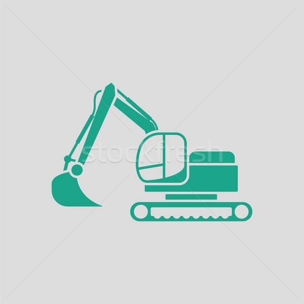 Icon of construction excavator Stock photo © angelp