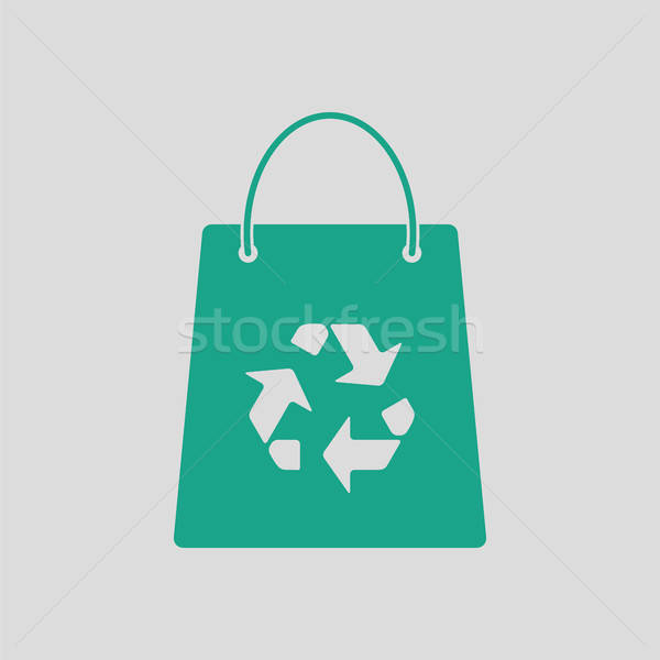 Shopping bag with recycle sign icon Stock photo © angelp
