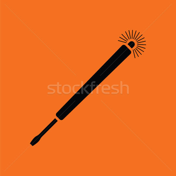 Electricity test screwdriver icon Stock photo © angelp