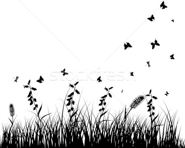Luncă siluete vector iarbă obiecte Imagine de stoc © angelp