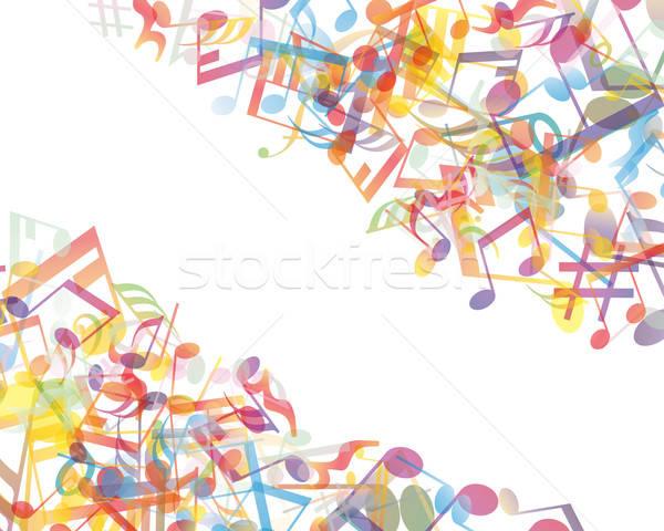 Foto stock: Notas · personal · vector · notas · musicales · diseno · resumen