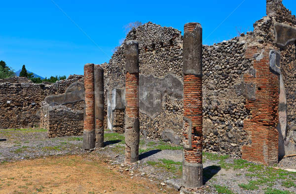 Ruins of ancient city Pompeii Stock photo © angelp