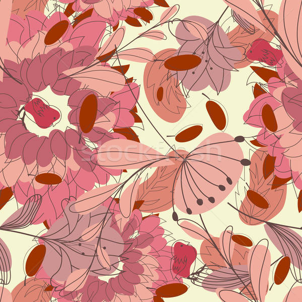 Senza soluzione di continuità floreale pattern vettore facile Foto d'archivio © angelp