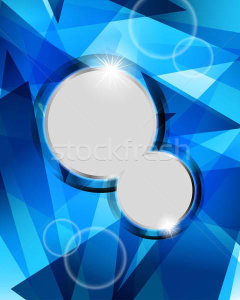 青 実例 透明 eps10 コンピュータ ストックフォト © angelp