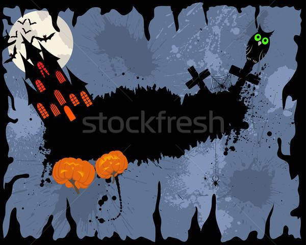 Feliz halloween cartão cara projeto noite Foto stock © angelp