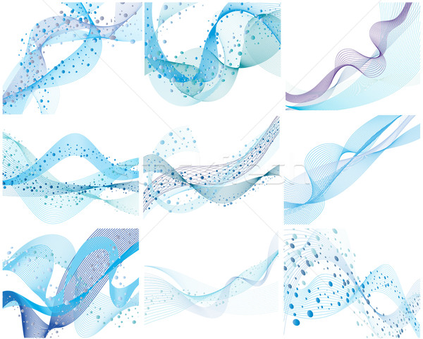 set of water background Stock photo © angelp