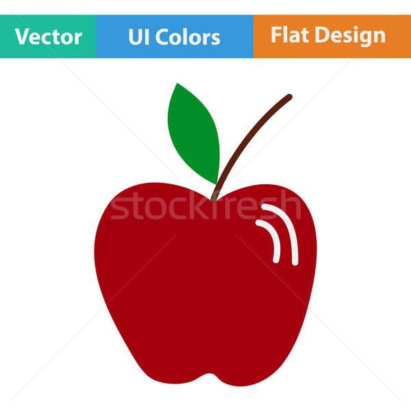 Flat design icon of Apple Stock photo © angelp