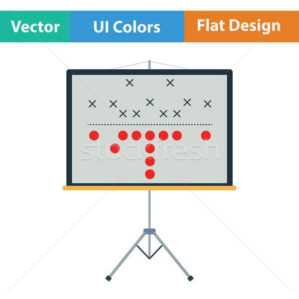 Americano partido de fútbol plan stand icono color Foto stock © angelp