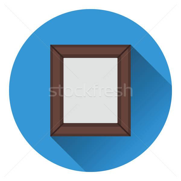 Fotolijstje icon kleur ontwerp frame ruimte Stockfoto © angelp