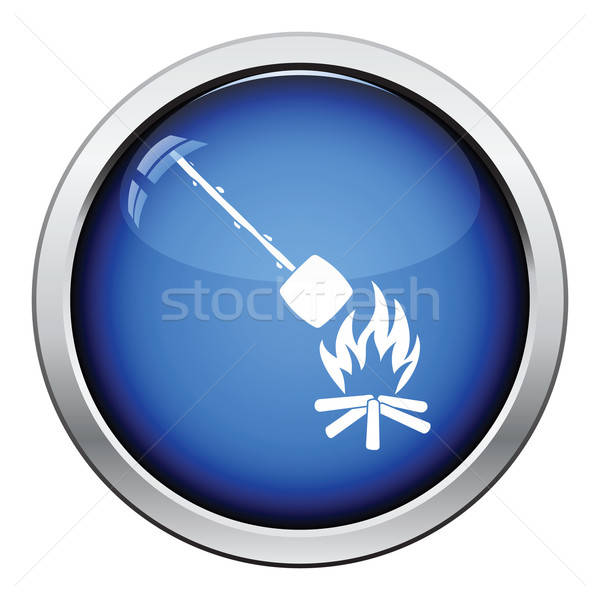 Camping fire with roasting marshmallo  icon Stock photo © angelp