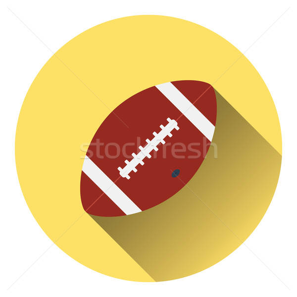 Foto stock: Americano · fútbol · pelota · icono · color · diseno