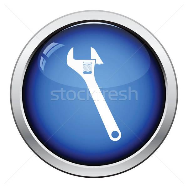 Icône clé à molette bouton design travaux Photo stock © angelp