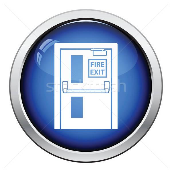 火災 終了する ドア アイコン ボタン ストックフォト © angelp