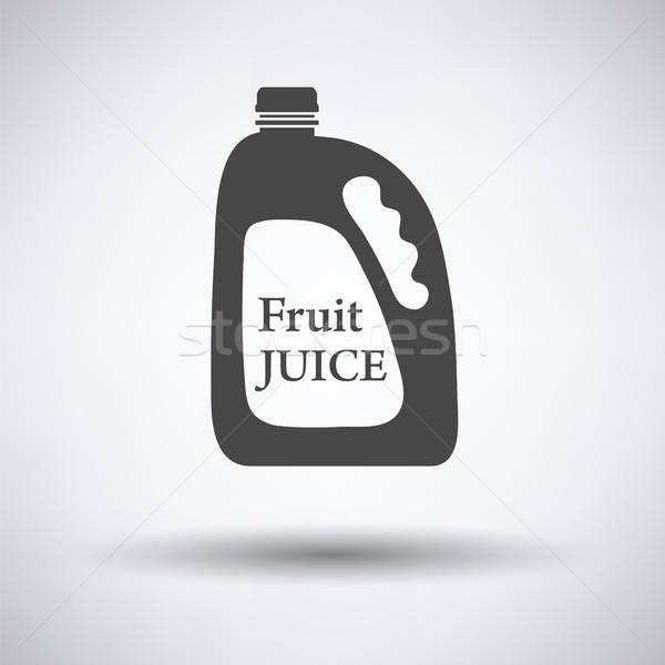 Gyümölcslé ikon szürke étel terv gyümölcs Stock fotó © angelp