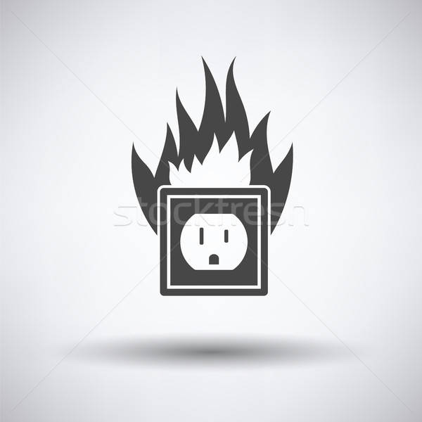 Electric outlet fire icon Stock photo © angelp