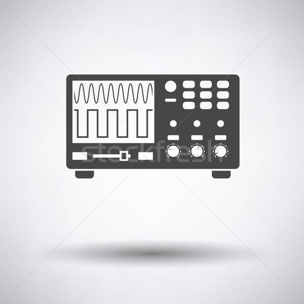 Oscilloscope icon Stock photo © angelp