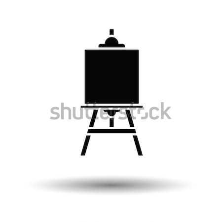 Sztaluga ikona pomarańczowy czarny drewna farby Zdjęcia stock © angelp