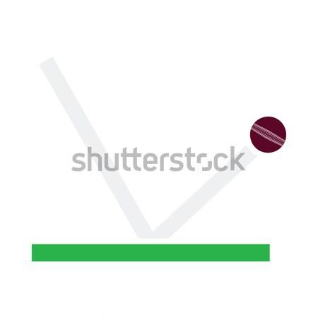 крикет мяча траектория икона спорт дизайна Сток-фото © angelp